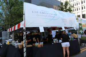Catering by Liz Grenamyer at One Spark, suggest you bring a healthy appetite when you go