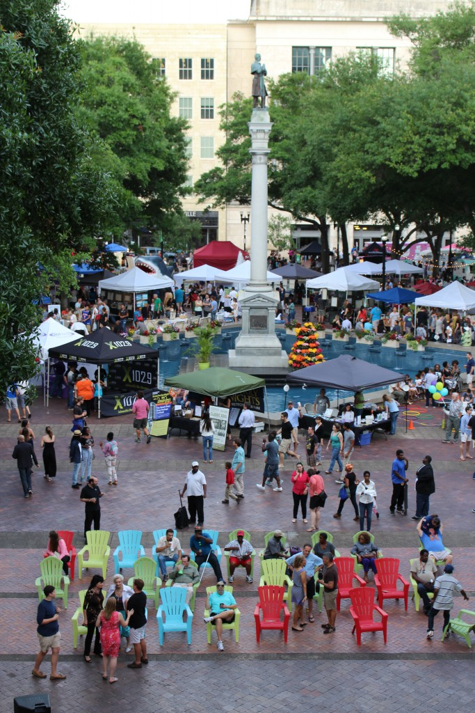 Hemming Plaza for art walk, great place to get some decorations.