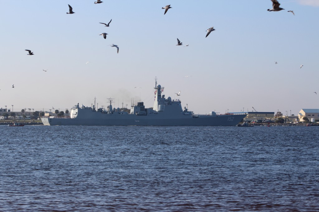Chinese 152 on historic Naval goodwill tour enters Jacksonville's Mayport Naval Station