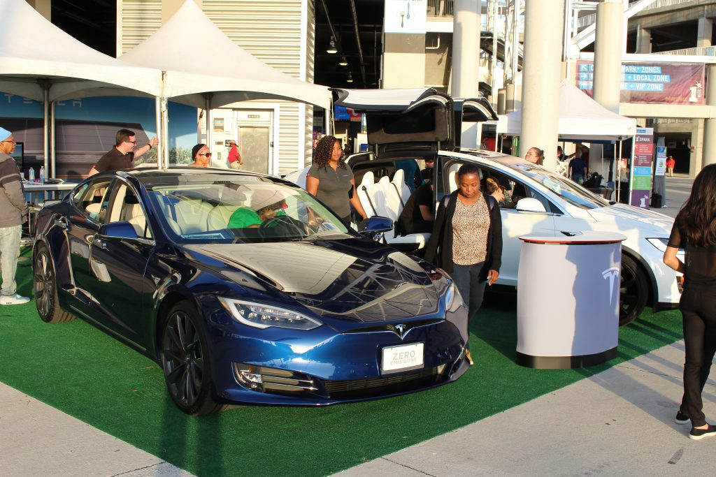 OneSpark 2018 Tesla on site